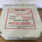 Caixa de pizza quadrada personalizada